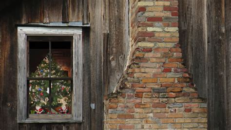 brick clips for christmas lights christmas tree with blinking lights seen through window of