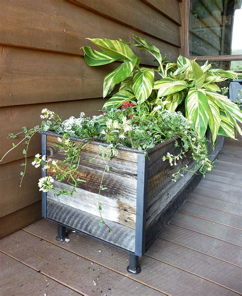 Planters With Plants by Reclaimed Planter With Plants Custom By Rushton Llc