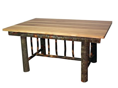 hickory dining room table rustic hickory mission style dining table