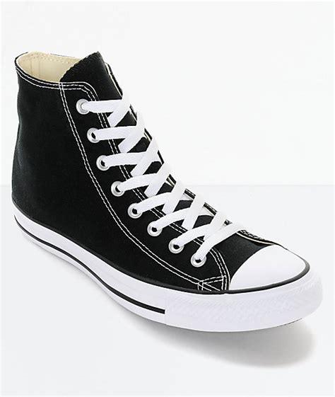 Converse Shoes High Black converse chuck all black high top shoes zumiez