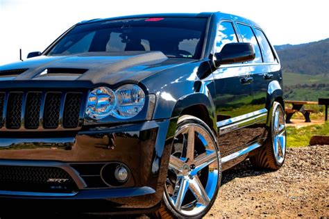 slammed jeep srt8 custom jeep srt8 carbon fiber all around lowered custom