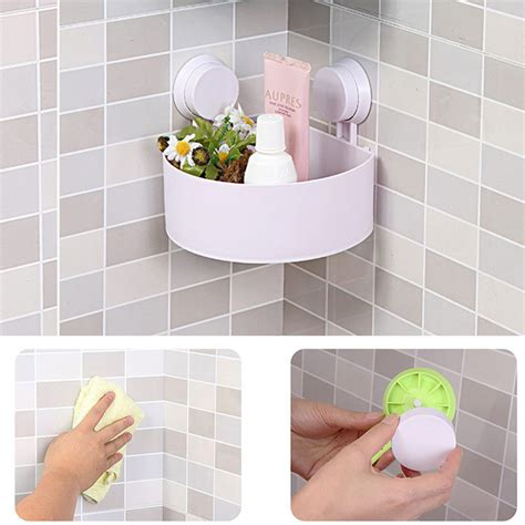 plastic bathroom corner storage rack organizer shower