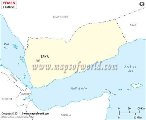 printable map of yemen blank map of yemen yemen outline map