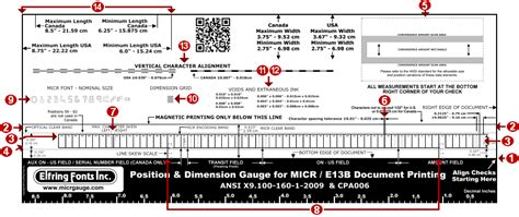 Micr Document Position Gauge Instructions Micr Check Template