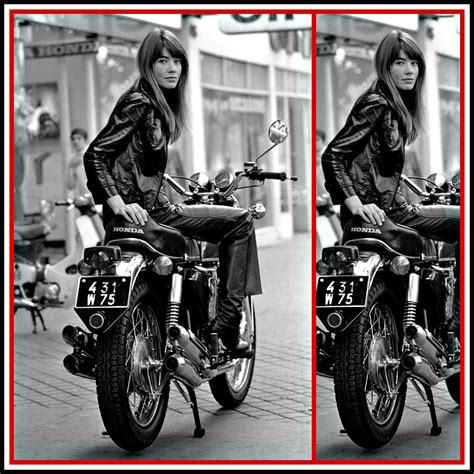 francoise hardy on motorcycle francoise hardy 1969 high low vintage high low vintage