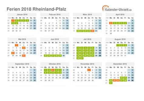 Kalender 2018 Mit Feiertagen Rheinland Pfalz Ferien Rheinland Pfalz 2018 Ferienkalender Zum Ausdrucken