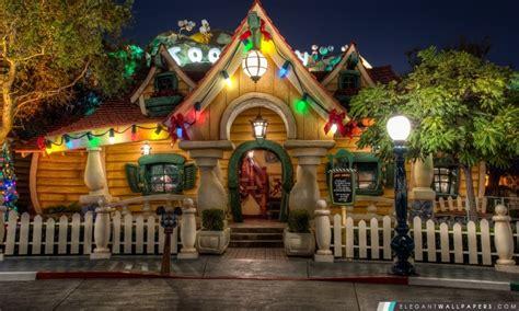 christmas decorated houses architecture wallpapers hd c est d 233 j 224 no 235 l 224 la maison de mickey fond d 233 cran hd 224
