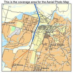 aerial photography map of oroville ca california