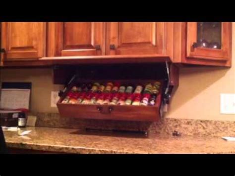 under cabinet spice rack that pull down drop down spice rack doug123dd gmail com youtube