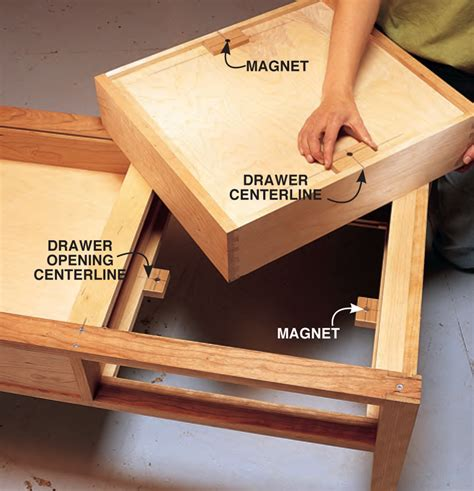 How To Add A Drawer To A Table by Two Drawer Coffee Table Popular Woodworking Magazine