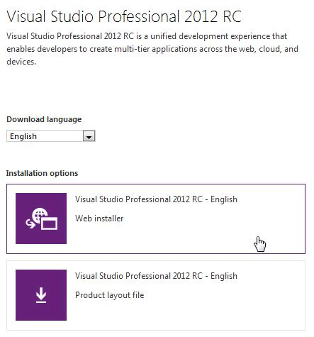 website tutorial visual studio 2012 visual studio 2012 download and install net 4 5