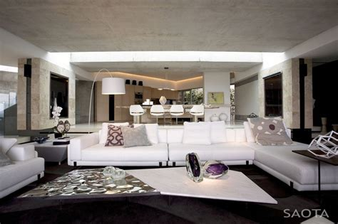 living room in mansion amazing mansion house by saota overlooking the city and ocean cape town south africa