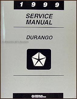 car repair manual download 1999 dodge durango parking system 1999 dodge durango repair shop manual original