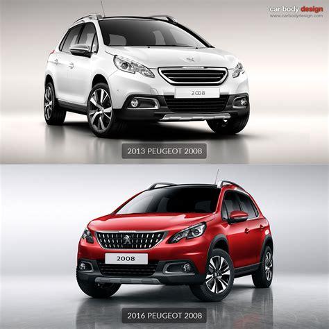 peugeot new models 2016 peugeot unveils restyled 2008 car body design