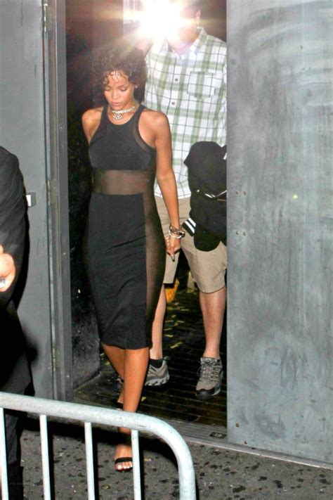 house side panels rihanna in dress with sheer side panels 30 gotceleb