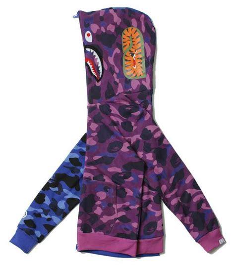 Jaket Hoodie Color Sky Diskon sale bape color camo sky blue purple stitching camo