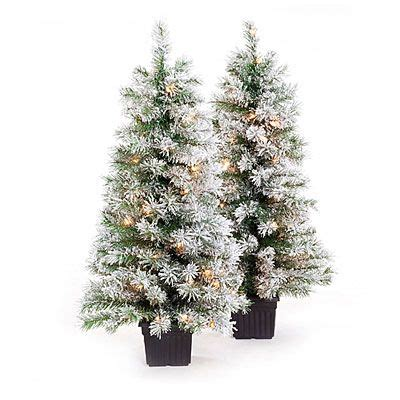 big lotts christmas trees 3 5 pre lit artificial urn trees white flocking with clear lights at big lots