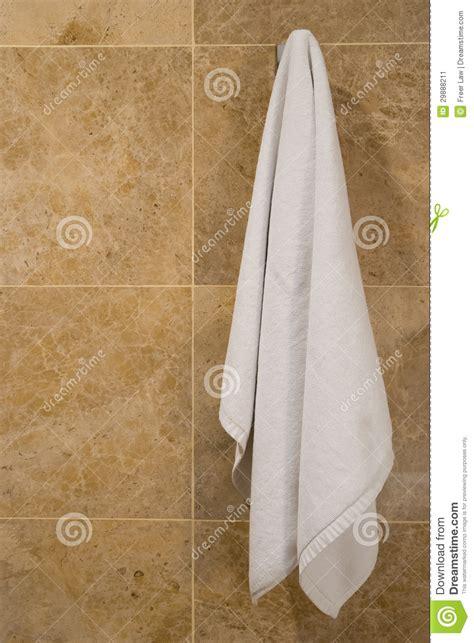 Towel hanging stock image image 29888211