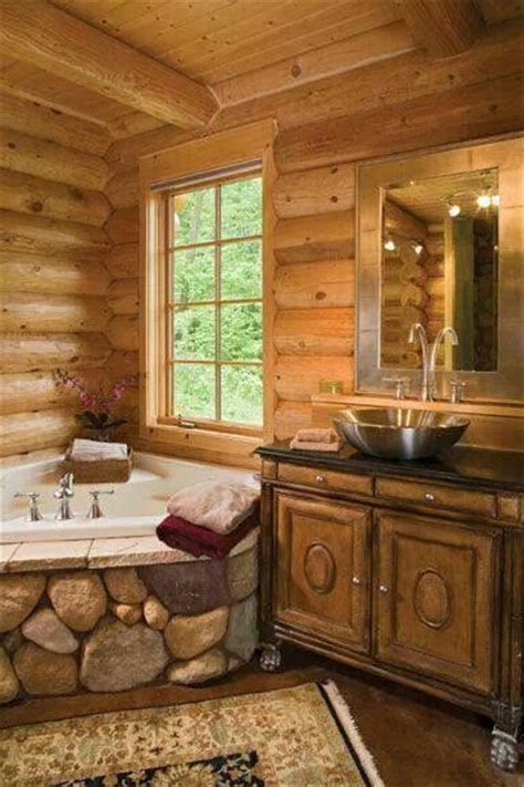 I Can Put You In A Log Cabin by Log Cabin Bath The Around The Tub Casas