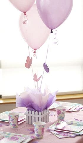 butterfly baby shower centerpieces items similar to butterfly centerpieces with personalized table decorations balloon