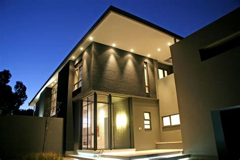 Exterior Home Lighting Design | modern outdoor lightning as illuminating decoration for