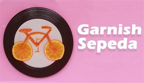 Alat Ukir Piring cara membuat garnish dari buah jeruk bentuk sepeda