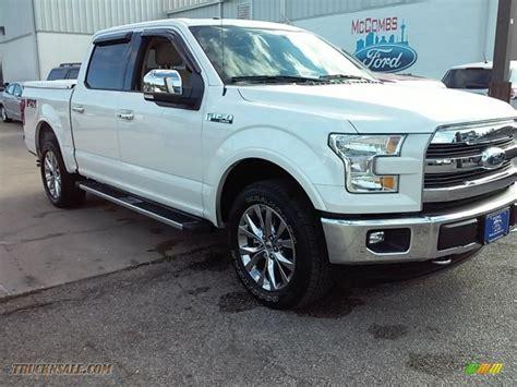 ford truck white 2015 ford f150 lariat supercrew 4x4 in white platinum