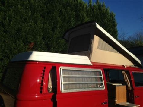 sell   vw westfalia camper bus montana red