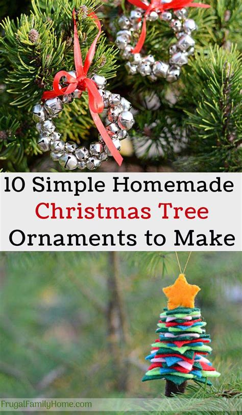 easy homemade christmas tree ornaments   frugal
