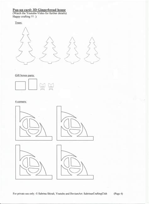 pop up card house templates free 3d gingerbread house pop up card page 4 by
