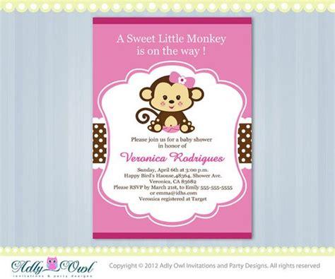 monkey themed baby shower invitations printable pink lime green monkey jungle monkeys baby shower printable diy invitation for