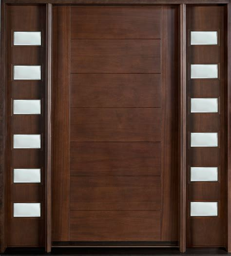 Interior Wood Door With Frosted Glass Panel Marvelous Brown Solid Teak Wood Modern Interior Doors For Inspiring Entry Door Ideas Added