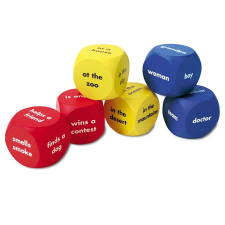 Beginning Language Roll Learn Pocket Cubes For Language Learning Fu soft foam story starter cubes learning resources 174