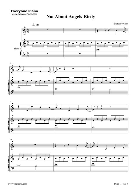 tutorial piano not about angels not about angels birdy stave preview 1 free piano sheet