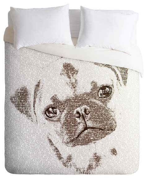 pug bedding belle13 the intellectual pug duvet cover eclectic duvet covers by deny designs
