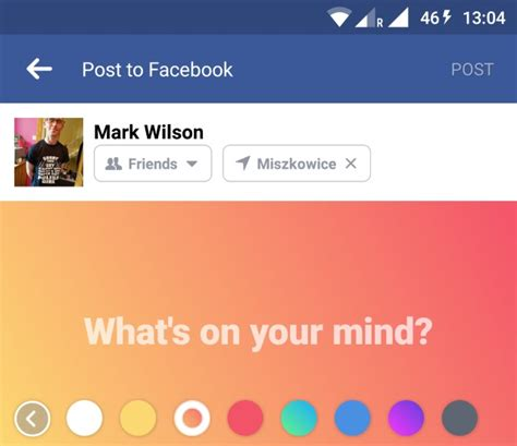 facebook themes color facebook brings colored backgrounds to statuses
