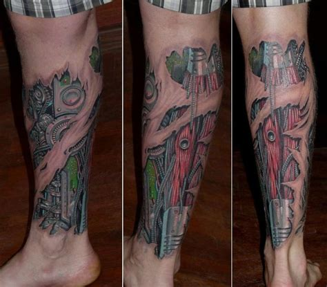 biomechanical tattoo techniques 60 best lower leg tattoos images on pinterest tattoo