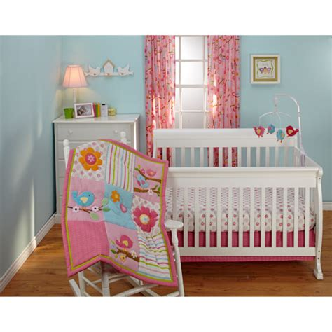 Crib Bedding Sets At Walmart Bedding By Nojo Sweet Lil Birds 3pc Crib Bedding Set Collection Value Bundle