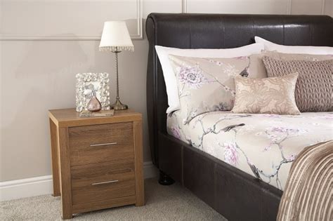 bed frames chicago gfw chicago 4ft6 double brown faux leather bed frame by gfw