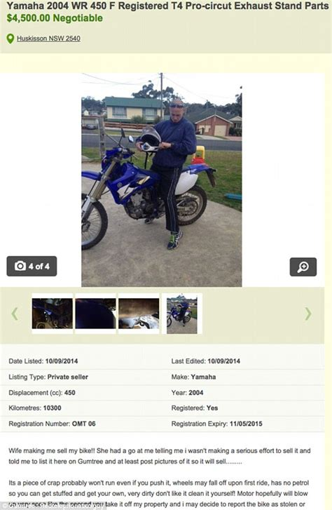 gumtree free classified ads from the 1 classifieds site husband posts hilarious anti ads for a motorbike and golf