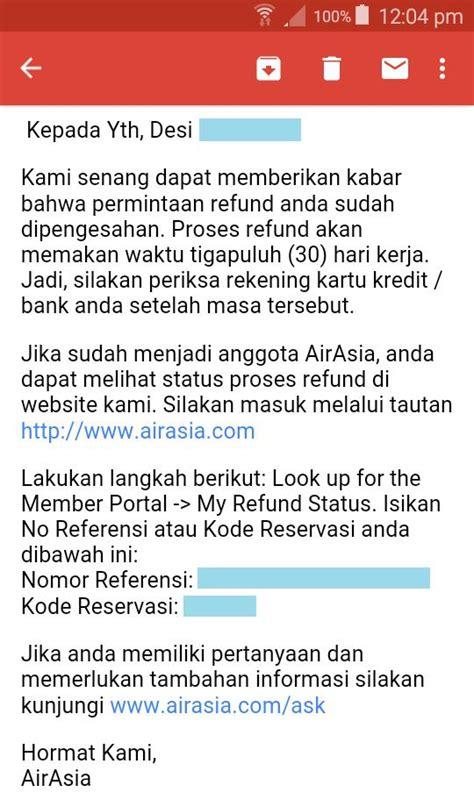 airasia refund tiket cara minta refund airport tax tiket airasia desi sachiko