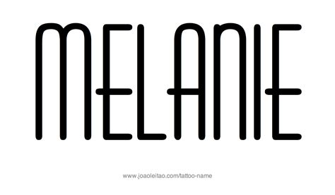 melania name tattoo designs