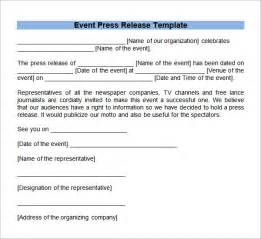 microsoft word press release template sle press release templates 8 free documents