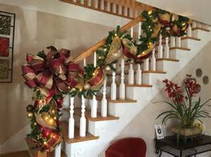 christmas stairway garland post swagshipping included old