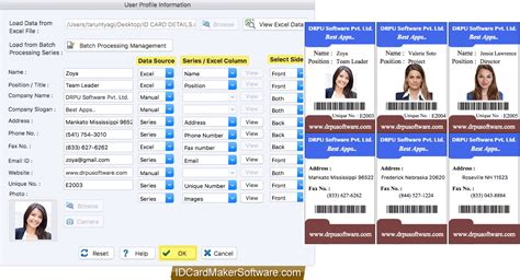 id card design software for mac screenshots of id card designer corporate edition for mac