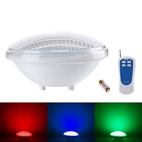 led pool lights amazon le 174 dimmable 18w par56 rgb pool lights led underwater