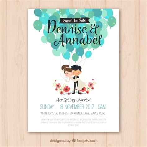 Wedding Invitation Freepik by Wedding Invitation With Vector Free
