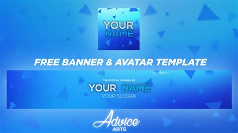Free Youtube Banner Avatar Template Download 2018 Youtube Banner Template 2018