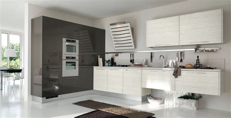 grey and white kitchen designs open modern kitchens with few pops of color