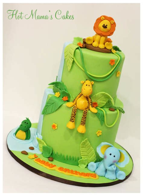 Jungle Themed Cakes Baby Shower by Jungle Themed Baby Shower Cake Cakecentral